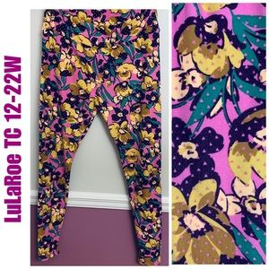 LuLaRoe Purple floral leggings 12-22W